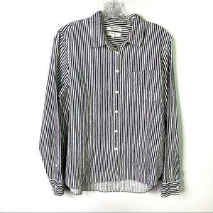 Madewell Shrunken Button Down Shirt Sz L C-1
